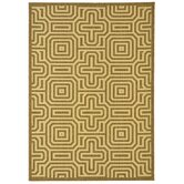 Courtyard Brown/Natural Geometric Rug
