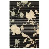 Rodeo Drive Black Floral Rug