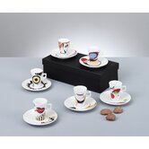 "12-tlg. Espresso Set ""Faces"""