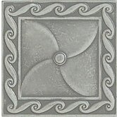 "Accent Statements Metal 3"" x 3"" Scrollwork Decorative Corner/Insert in Vintage Pewter"