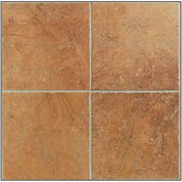 "Egyptian Stone 13"" x 13"" Floor Tile in Luxor Red"
