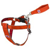Mutt Gear™ Dog Step In Harness in Orange and Red