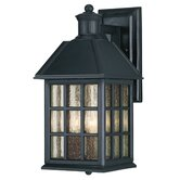Abbey Outdoor Wall Lantern in Flat Black