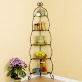 Colchester Scrolled Corner Etagere in Black