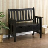 Stuart Storage Wood Entryway Bench