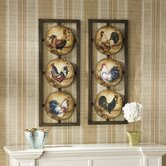 Berkshire Two Piece Rooster Wall Panel Set