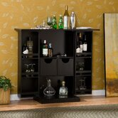 Boswell Fold Away Bar in Black