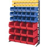 Single Sided Steel Rail Rack with Various Bin Sizes (Complete Package)