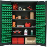 48&quot; Wide Welded Storage Cabinet with 128 Ultra Bins