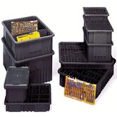 "Conductive Dividable Grid Storage Containers (8"" H x 10 7/8"" W x 16 1/2"" D)"
