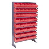 Single Sided Pick Rack Storage Systems with Various Euro Bins