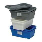 "Cross Stack Tubs with Optional Lids and Label Holders (23 3/4"" L x 17"" W)"