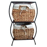 Rattan Two Drawer Storage Cabinet