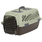 Medium Fashion Pet Carrier in Moss Bank Green and Coffee Ground