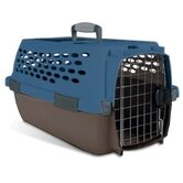 Kennel Cab Pet Carrier in Blue/Brown