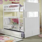 Nantucket Bunk Bed with Raised Panel Drawers