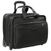 "@Work 17"" Executive Expandable Rolling Briefcase in Black"