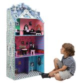 Modern Spooktacular Doll House with Furniture