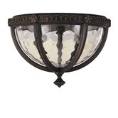 Regent Court  Outdoor Flush Mount in Walnut