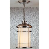 Lighthouse Duomount Hanging Outdoor Lantern in Brushed Steel