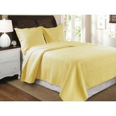 Vashon Yellow Quilt Set