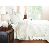 Ruffled Quilt Set in Ivory