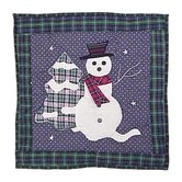 Snowman Toss Pillow
