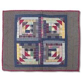 Wild Goose Log Cabin Standard Pillow Sham