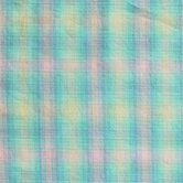 Blue Aqua and Pink Plaid Bed Skirt / Dust Ruffle