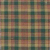 Green and Warm Brown / Red Plaid Toss Pillow