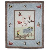 Songbirds Cotton Throw