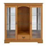 Canterbury Two Door Display Cabinet in Golden Chestnut