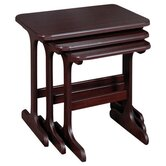York Nest of Tables in Mahogany