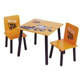 JCB Digger Table and Two Chair Set