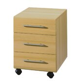 Sun 3 Drawers Pedestal in Beech