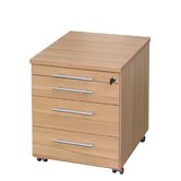 Evolution 3 Drawers Mobile Pedestal in Core Beech