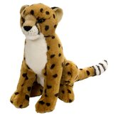 Realistic Sitting Cheetah Plush Animal