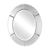 Evana Frameless Oval Wall Mirror