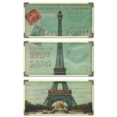 Eiffel Tower Cwall Postale Wall Art