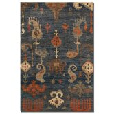 Bali Weathered Blue Gray Ikat Rug