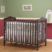 Lisa Two Level Full Size Folding 2-in-1 Convertible Crib