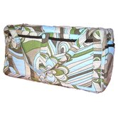 Retro Flowers Quilted Diaper Bag