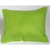 Valley of Flowers Beaded Pillow in Lime