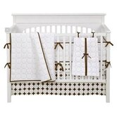 Quilted Circles White and Chocolate Crib Bedding Collection
