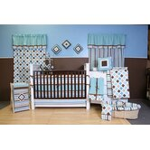 Mod Diamonds and Stripes Crib Bedding Collection