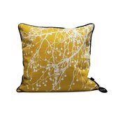 Tree Bomb Silk Pillow in Curry