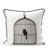 Large Birdcage Silk Pillow