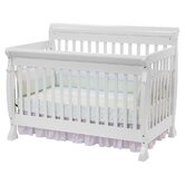 Kalani 4 in 1 Convertible Crib with Toddler Rail in White