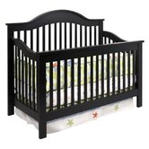 Jayden 4-in-1 Convertible Crib with Toddler Rail in Ebony