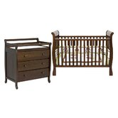Jamie Two Piece Convertible Crib Set in Espresso